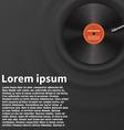 Vinyl disk realistic design eps 10 vector image