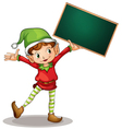 Character Holding Blackboard vector image