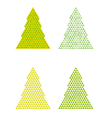 abstract trees with triangle on the top vector image