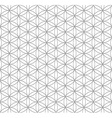 Black outline flower of life sacred geometry vector image