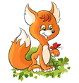 Cartoon baby fox vector image