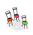 Chairs Hand-drawn graphic elements vector image