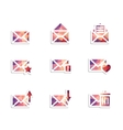 Envelope icons vector image