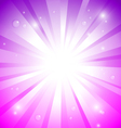 Fantasy sunburst purple pink vector image