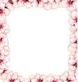 frame restangle blossoming sakura or cherry red vector image