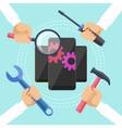 Mobile service concept vector image