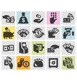 money set black icons signs and symbols vector image