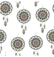 Seamless pattern with hand drawn dreamcatcher vector image