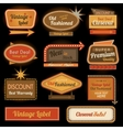 Vintage retro label signs vector image