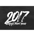 Happy New Year 2017 greetings on black chalkboard vector image