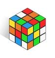 Isometric logic cube similar rubik toy icon vector image