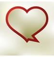 Heart speech bubble template  EPS8 vector image vector image