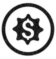 money award rounded icon rubber stamp vector image