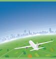 essen skyline flight destination vector image