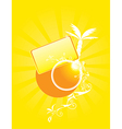 Yellow abstract sunny design vector image vector image