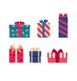 set of colorful gift box symbols vector image
