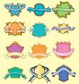 cartoon comical badges vector image