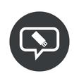Round usb stick dialog icon vector image