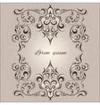 Ornamental frame decorative pattern eastern style vector image