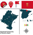 Chartered community of navarre spain vector image