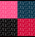 collection of patterns merry christmas and happy vector image