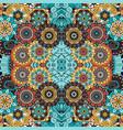 colorful ornamental floral decorative pattern vector image