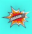 comic speech bubble bam vector image