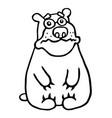 cute sad bear vector image