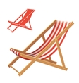 Deck chair vector image