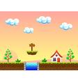 Farm background vector image