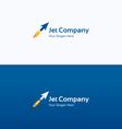 Jet arrow flame dynamic logo vector image