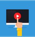 online video concept vector image