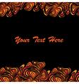 orange black frame vector image