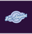 retro logo of los angeles city california usa vector image