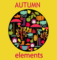 set of autumn themed objects vector image