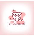 Strawberry flat Icon vector image