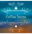 Vintage Coffee House card with monograms and vector image