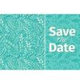 Wedding turquoise invitation template vector image