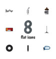 flat icon parts set of steels shafts wheel vector image
