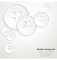 Abstract background with the image of buttons vector image