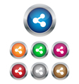 Share buttons vector image