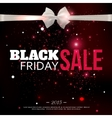 Black friday sale background with photorealistic vector image