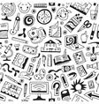 art tools school - seamless background vector image