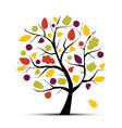 Art tree beautiful vector image
