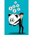 Business profits growth up vector image