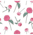 elegant floral seamless pattern with beautiful vector image
