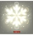 Elegant glowing snowflake Background vector image
