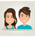 happy young people design vector image
