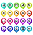 Map marker with icons-set one vector image