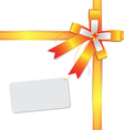 ribbon bow with label vector image